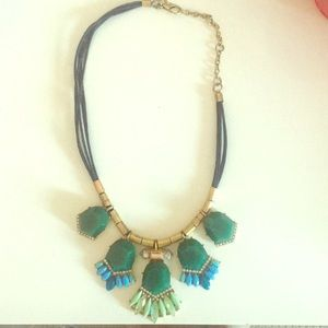 JCREW blue stone statement necklace